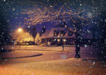En snöig jul